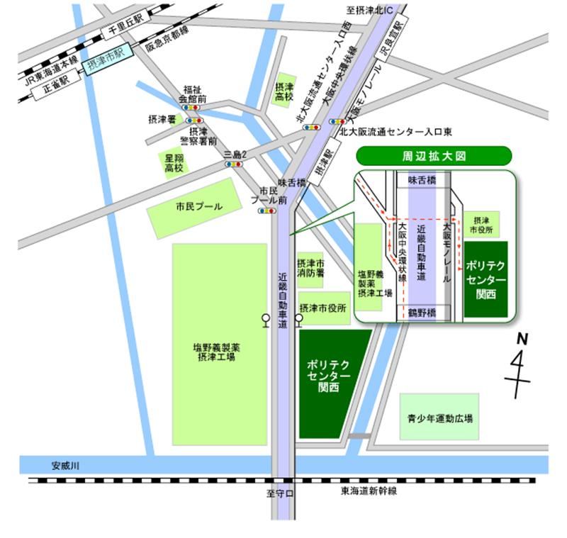 ポリテクセンター関西 アクセスマップ